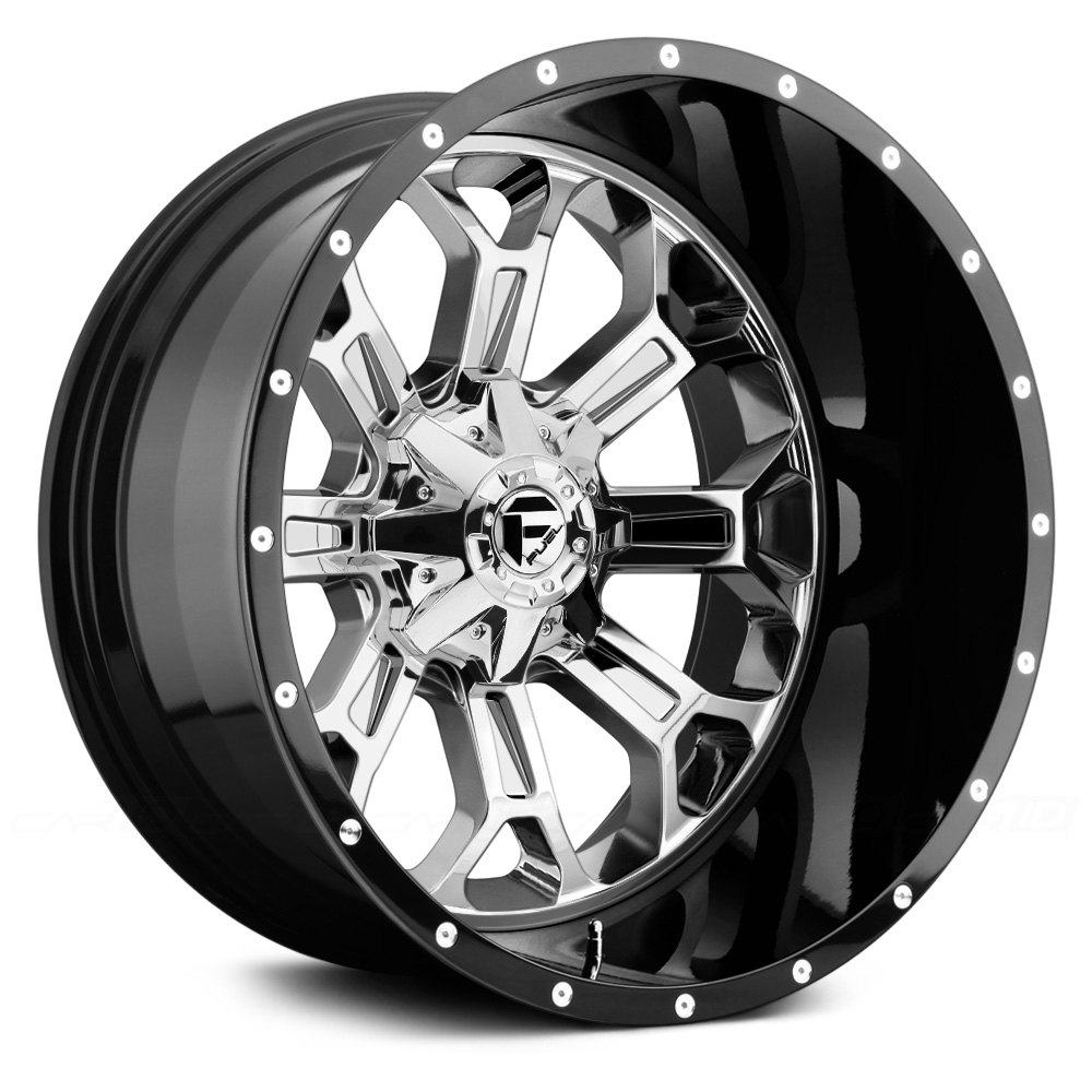 Fuel Truck Wheels >> Fuel D268 Crush 2pc Forged Center Black With Chrome Face