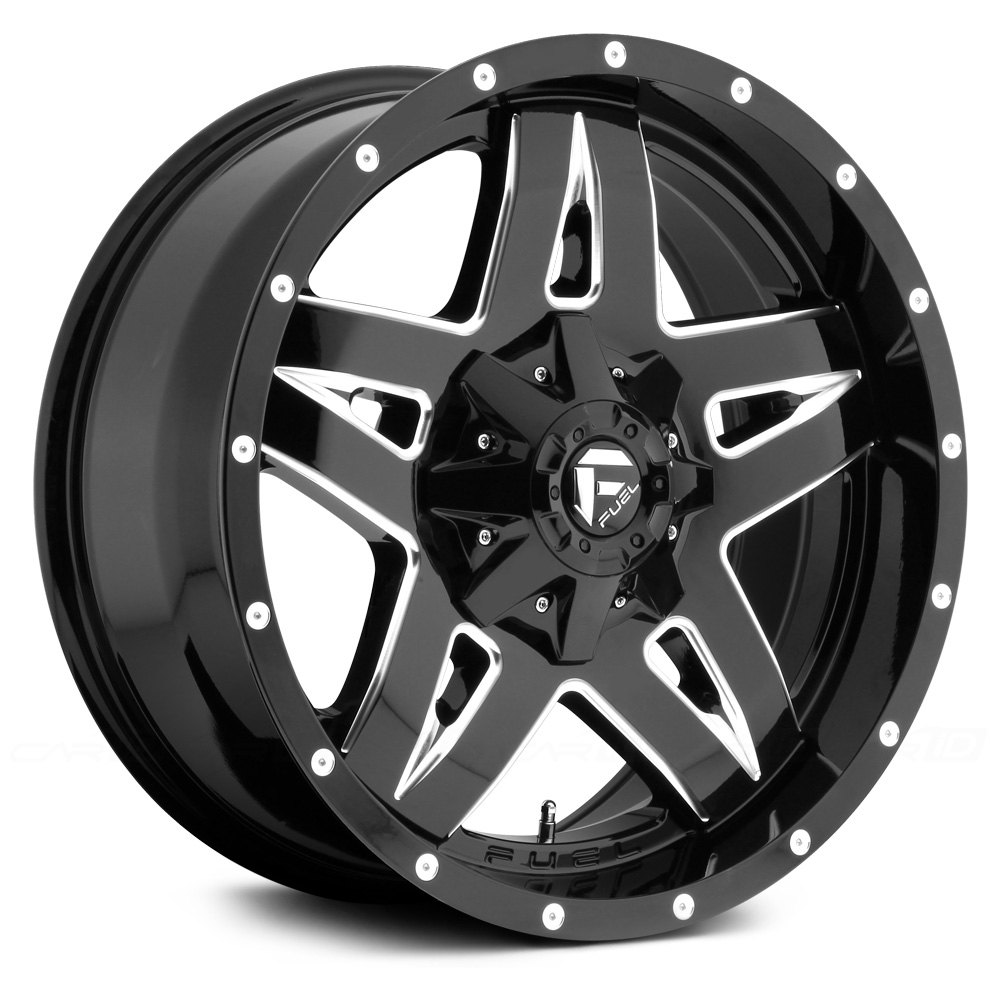 Ford F150 Factory Rims For Sale FUEL® FULL BLOWN 1PC Wheels - Gloss Black with Milled ...