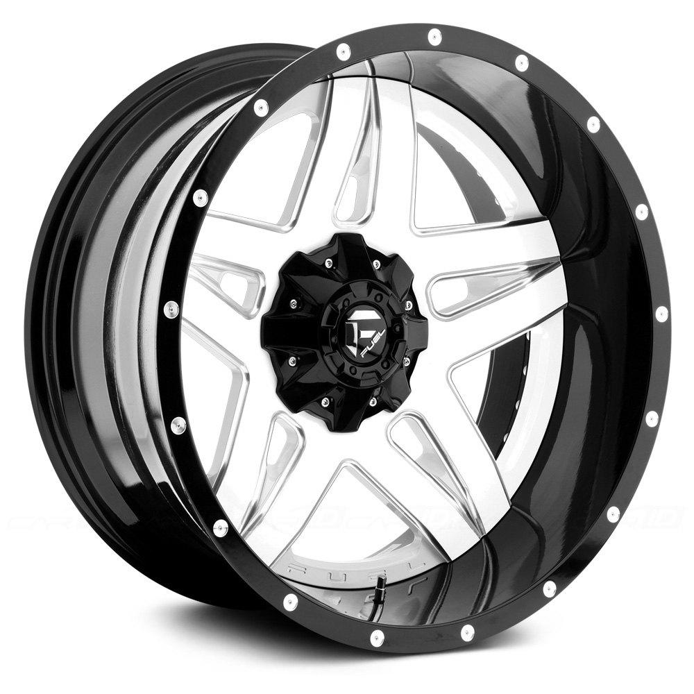 White Wheel Rims : Fuel full blown pc cast center wheels gloss black with