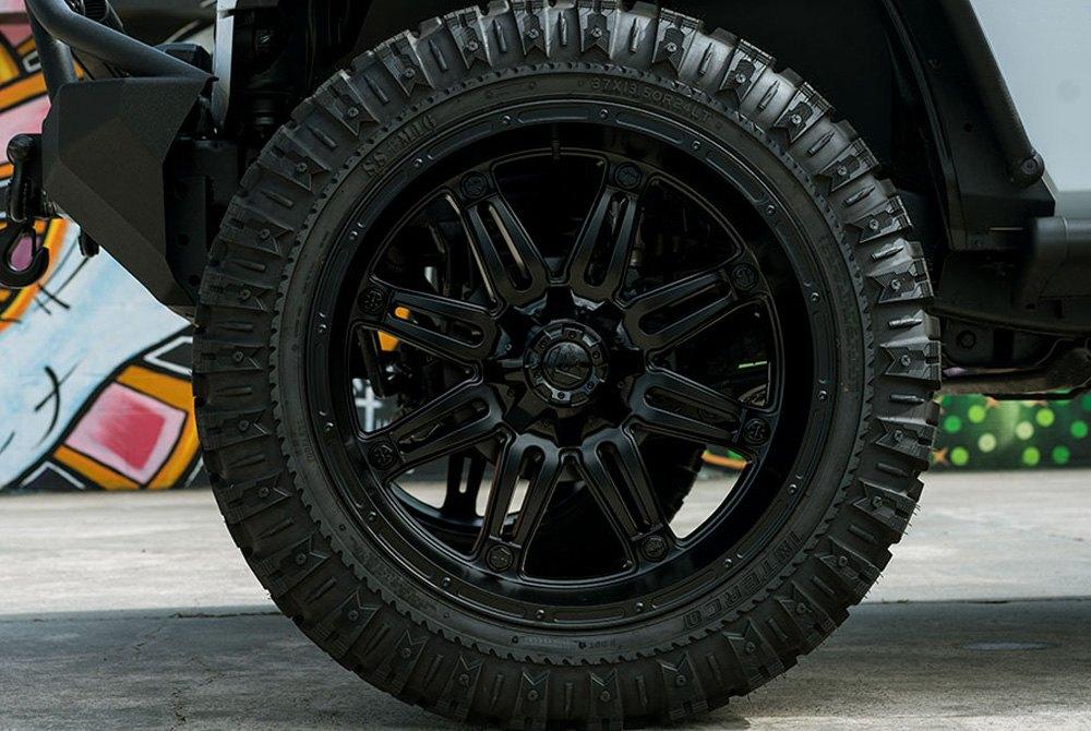 Fuel 174 D531 Hostage 1pc Wheels Matte Black Rims