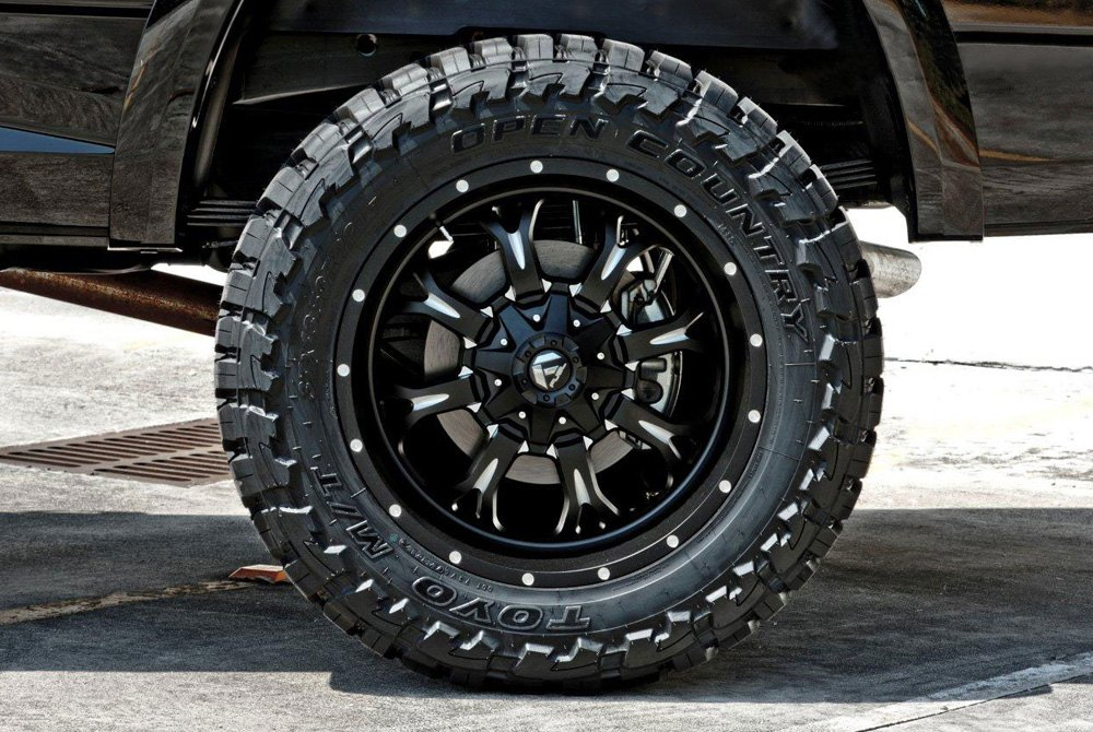 Fuel D517 Krank 1pc Wheels Black With Milled Accents Rims