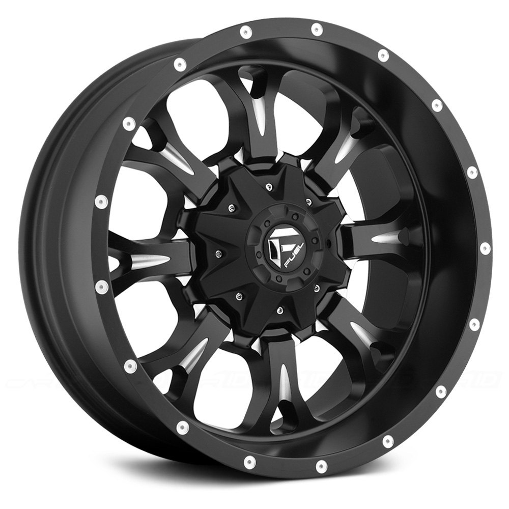 FUEL® D517 KRANK 1PC Wheels - Black with Milled Accents Rims