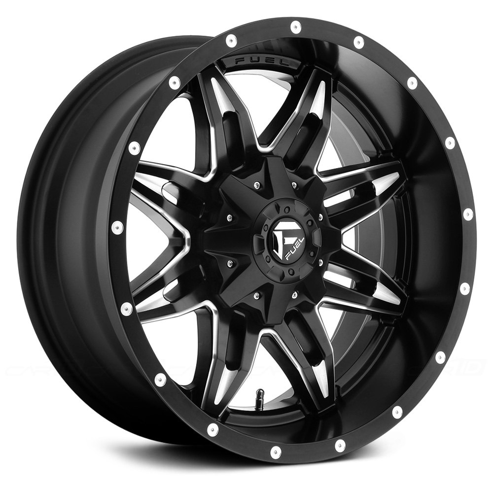 FUEL® LETHAL Wheels - Matte Black with Milled Accents Rims