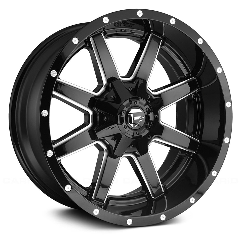 Fuel 174 Maverick 1pc Wheels Gloss Black With Milled