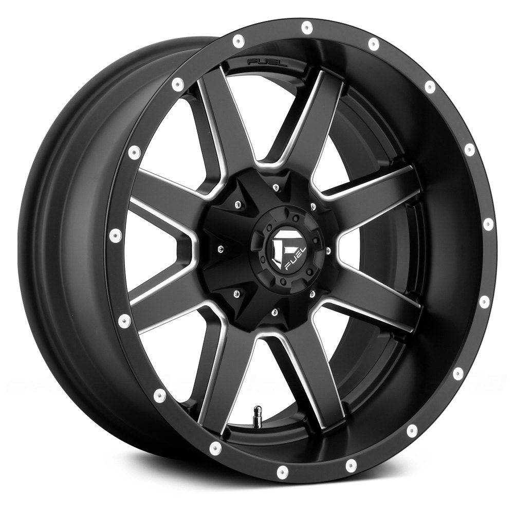 FUEL® Maverick 1PC Wheels - Matte Black with Milled ...