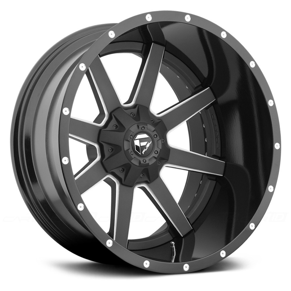 Chevy Silverado Custom Wheels >> FUEL® D262 MAVERICK 2PC FORGED CENTER Wheels - Black with Milled Accents Rims