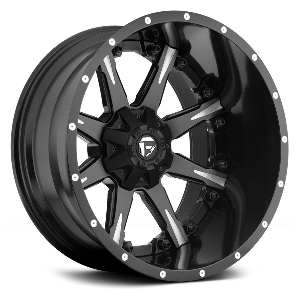 FUEL® D251 NUTZ 2PC FORGED CENTER Wheels - Black with ...