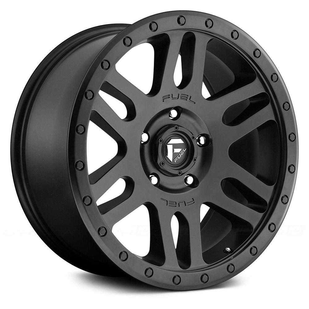 Fuel recoil 1pc wheels matte black rims
