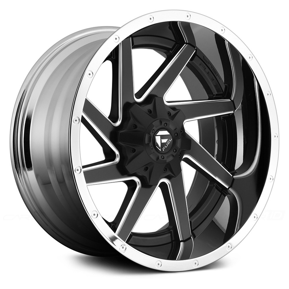 FUEL® D264 RENEGADE 2PC CAST CENTER Wheels - Black with ...