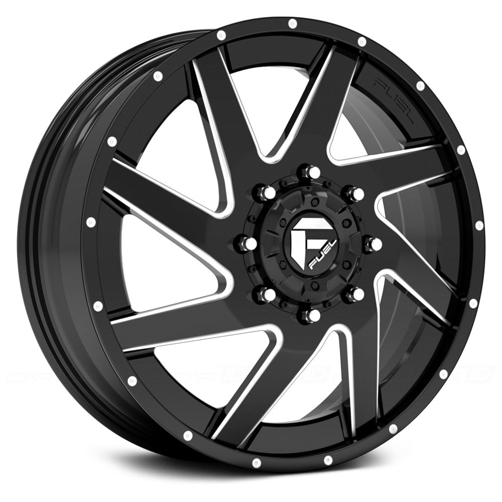 Fuel 174 D265 Dually Renegade 2pc Wheels Gloss Black With