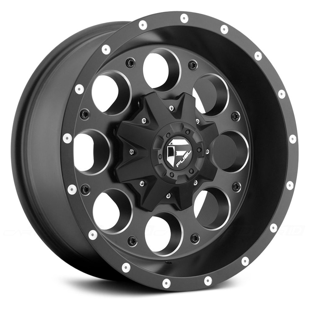 Jeep With Rims >> FUEL® D525 REVOLVER 1PC Wheels - Black with Milled Accents Rims