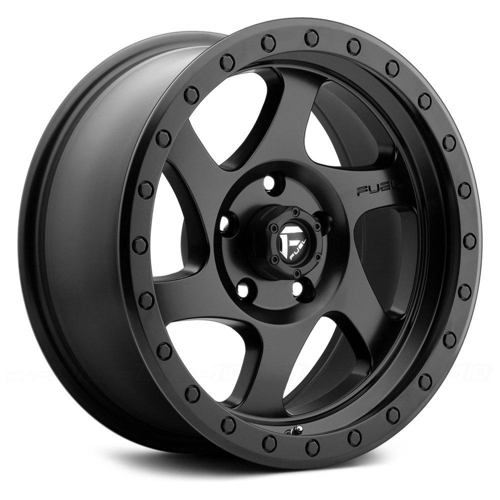 Fuel 174 D570 Rotor 1pc Wheels Matte Black Rims