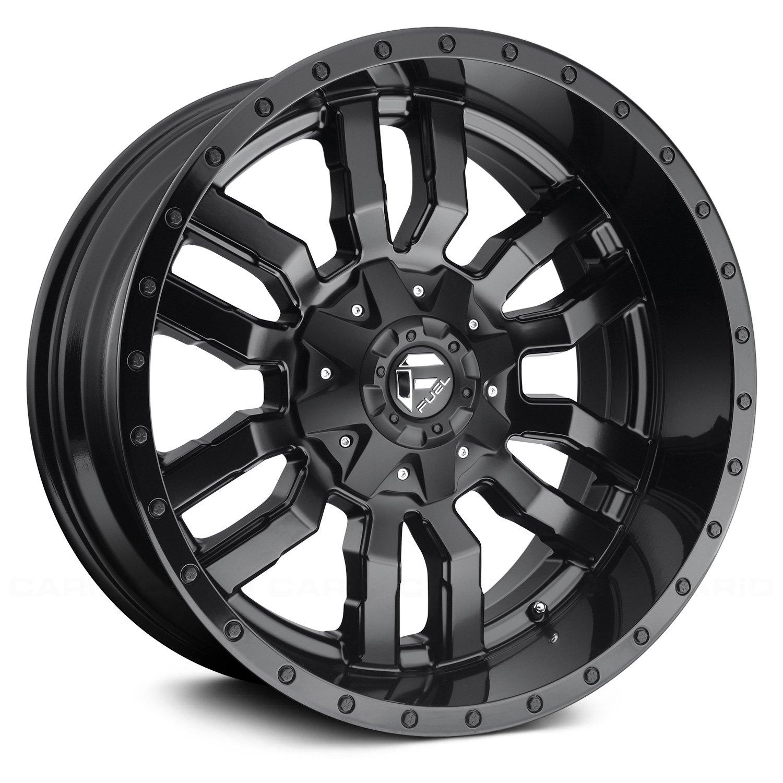 Fuel Rims F250 >> FUEL® D596 SLEDGE 1PC Wheels - Matte Black with Gloss Black Lip Rims