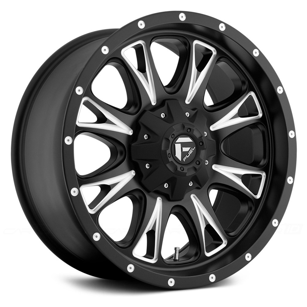Fuel 174 Throttle Wheels Black With Milled Accents Rims