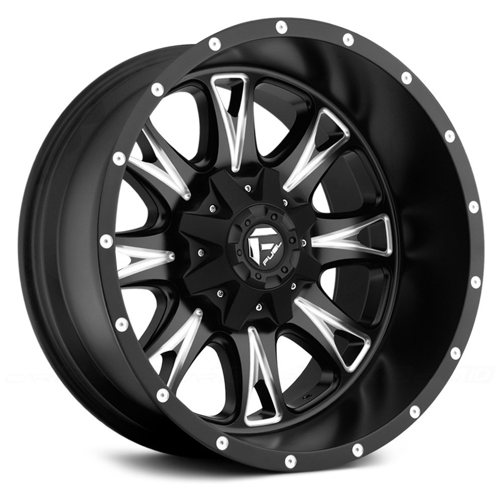 FUEL® THROTTLE DEEP LIP Wheels - Black with Milled Accents ...