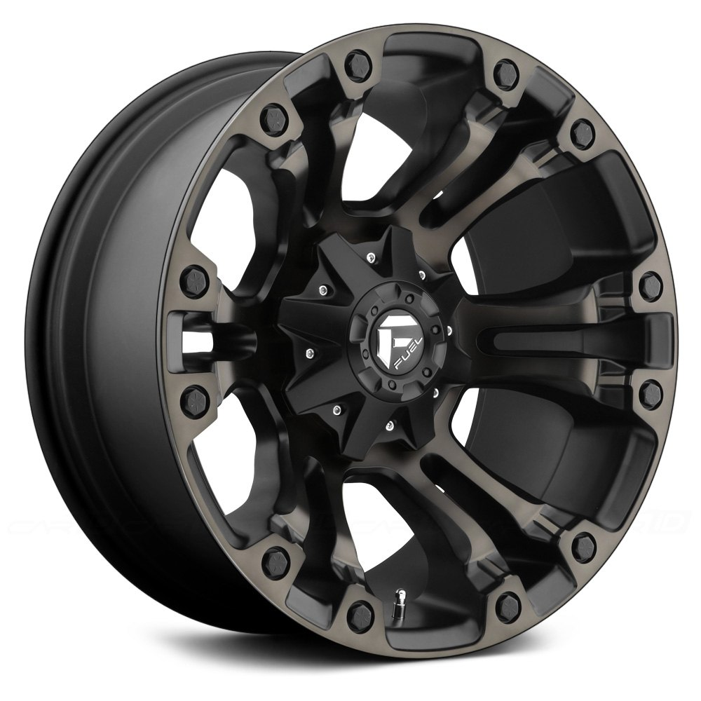 Fuel 174 Vapor Wheels Black With Machined Face And Double