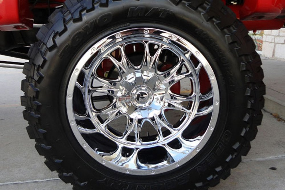 FUEL® THROTTLE DUALLIE 2PC Wheels - Chrome Rims