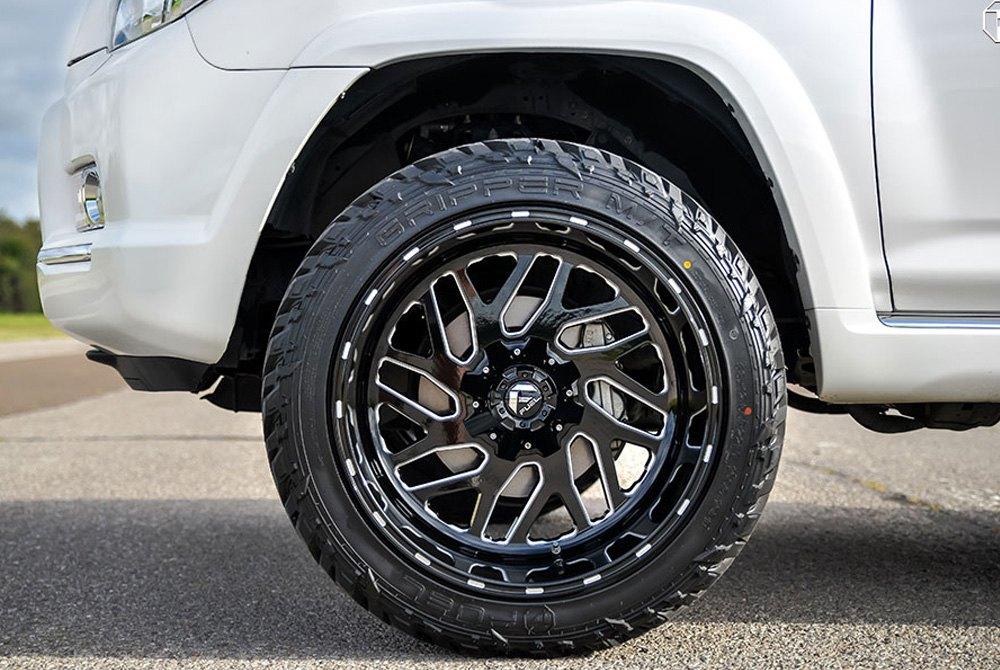 Fuel Rims 20X12 >> Fuel D581 Triton 1pc Black With Milled Accents