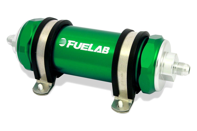 automotive in line fuel filters fuelab® 82834-6 - 828 series in-line fuel filters in line fuel filter 1 2 quot npt