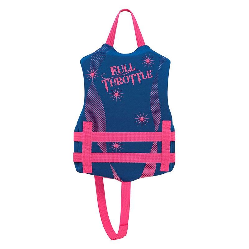 Full Throttle 142100-500-001-16 Child Blue/Pink Life Vest ...