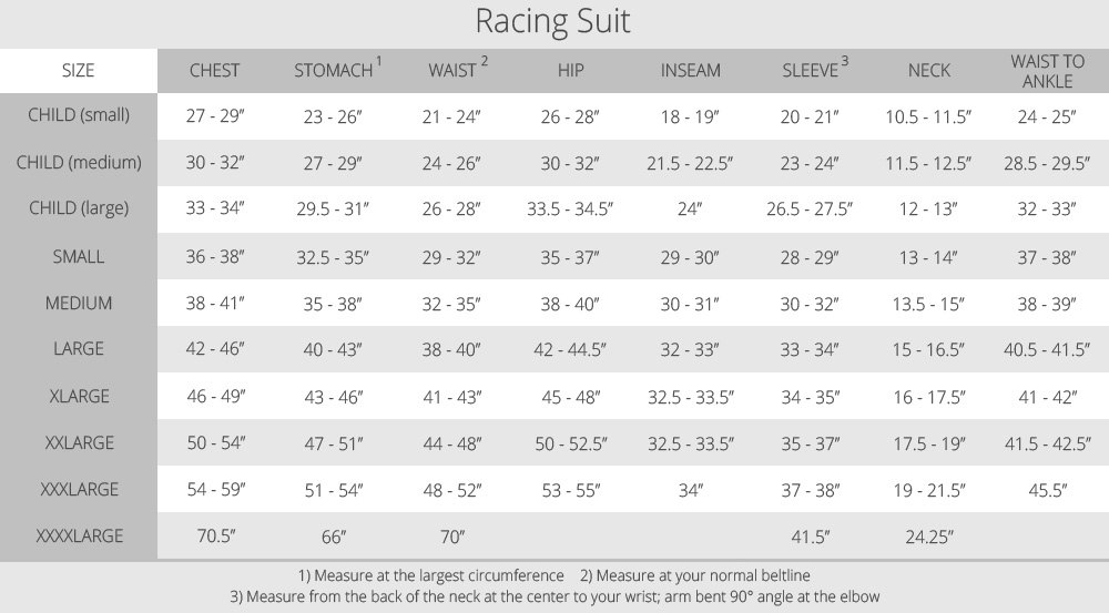 G Force Racing Shoes Size Chart