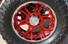 GEAR ALLOY® - 715C RECOIL Custom Painted on Chevy Silverado