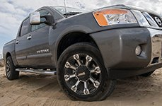 GEAR ALLOY® - 719MB BACKCOUNTRY Black with Machined Spokes on Nissan Titan