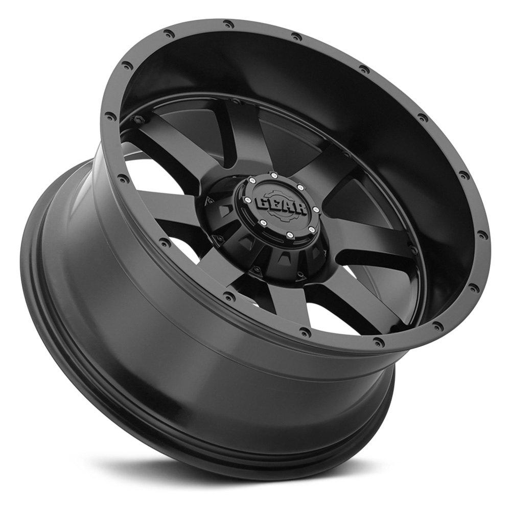 Gear Alloy 174 726b Big Block Wheels Satin Black Rims