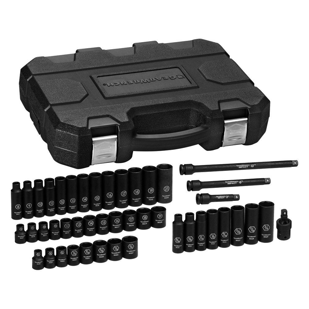 "GearWrench® 84916 - 3/8"" Drive SAE/Metric Impact Socket Set (44 pcs)"