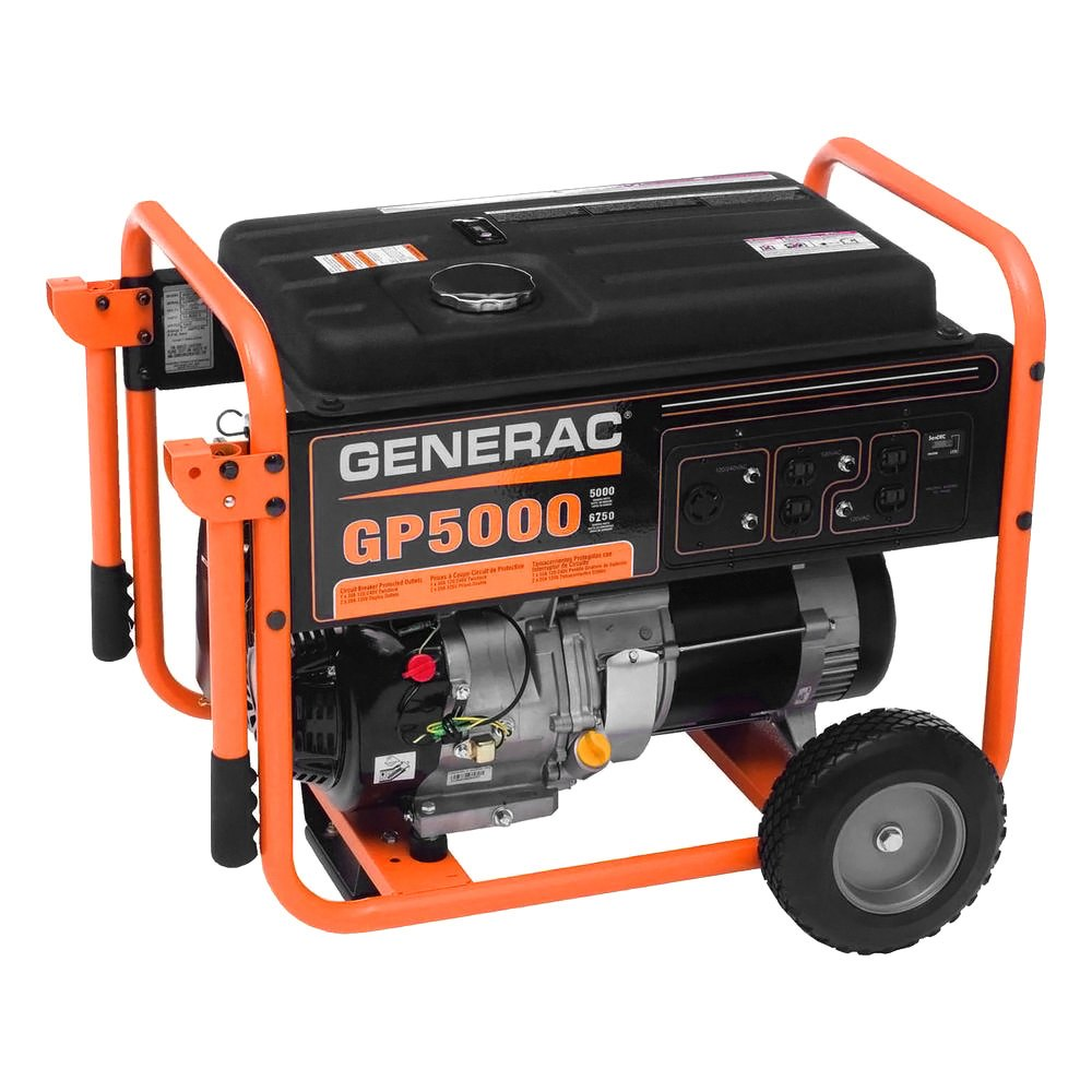 Generac 5000 watt gasoline generator ebay for Who makes generac motors