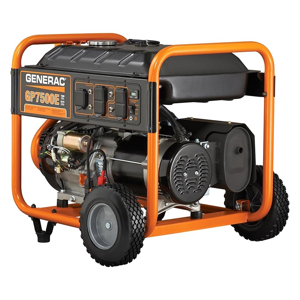 generac 5978 gp series 7 5 kw electric manual start portable generator. Black Bedroom Furniture Sets. Home Design Ideas