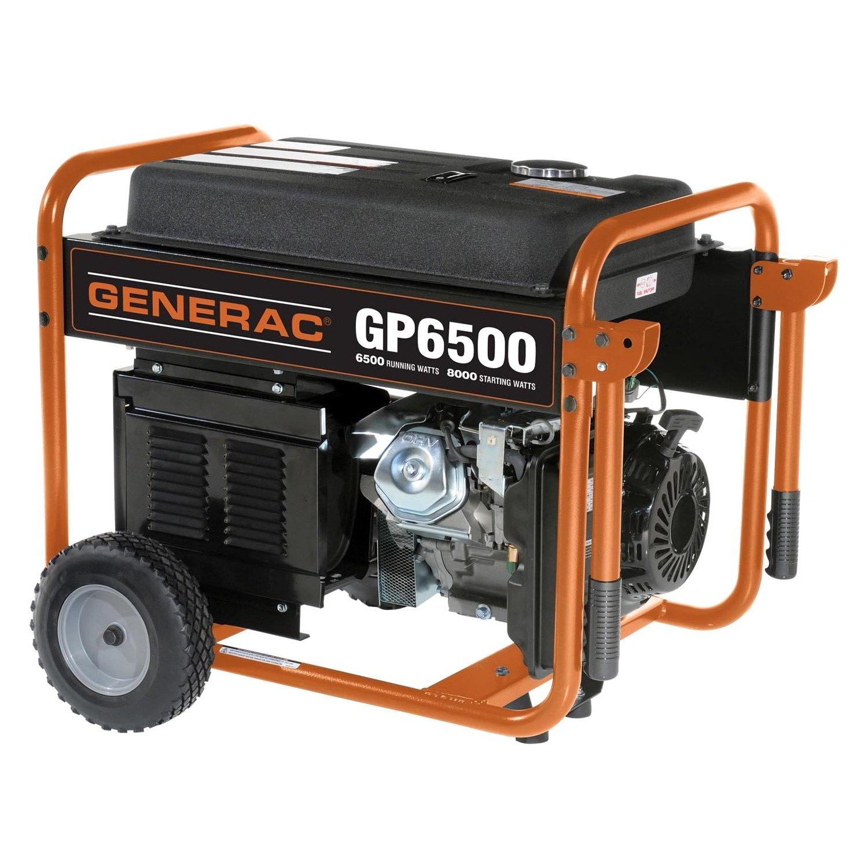 Generac gp6500 gp series 6 500 watt portable generator for Who makes generac motors