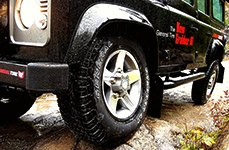 GENERAL® - GRABBER AT Tires on Land Rover Defender