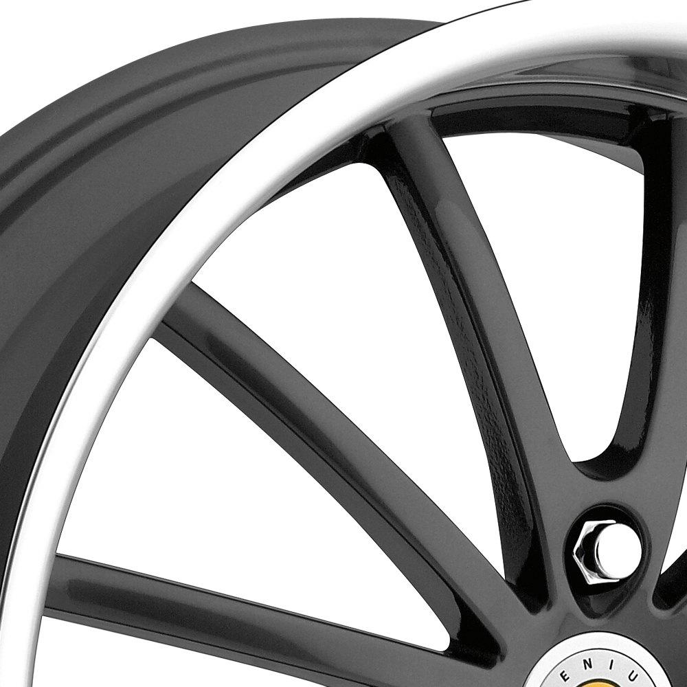 Genius Darwin Wheels Gunmetal With Mirror Cut Lip Rims