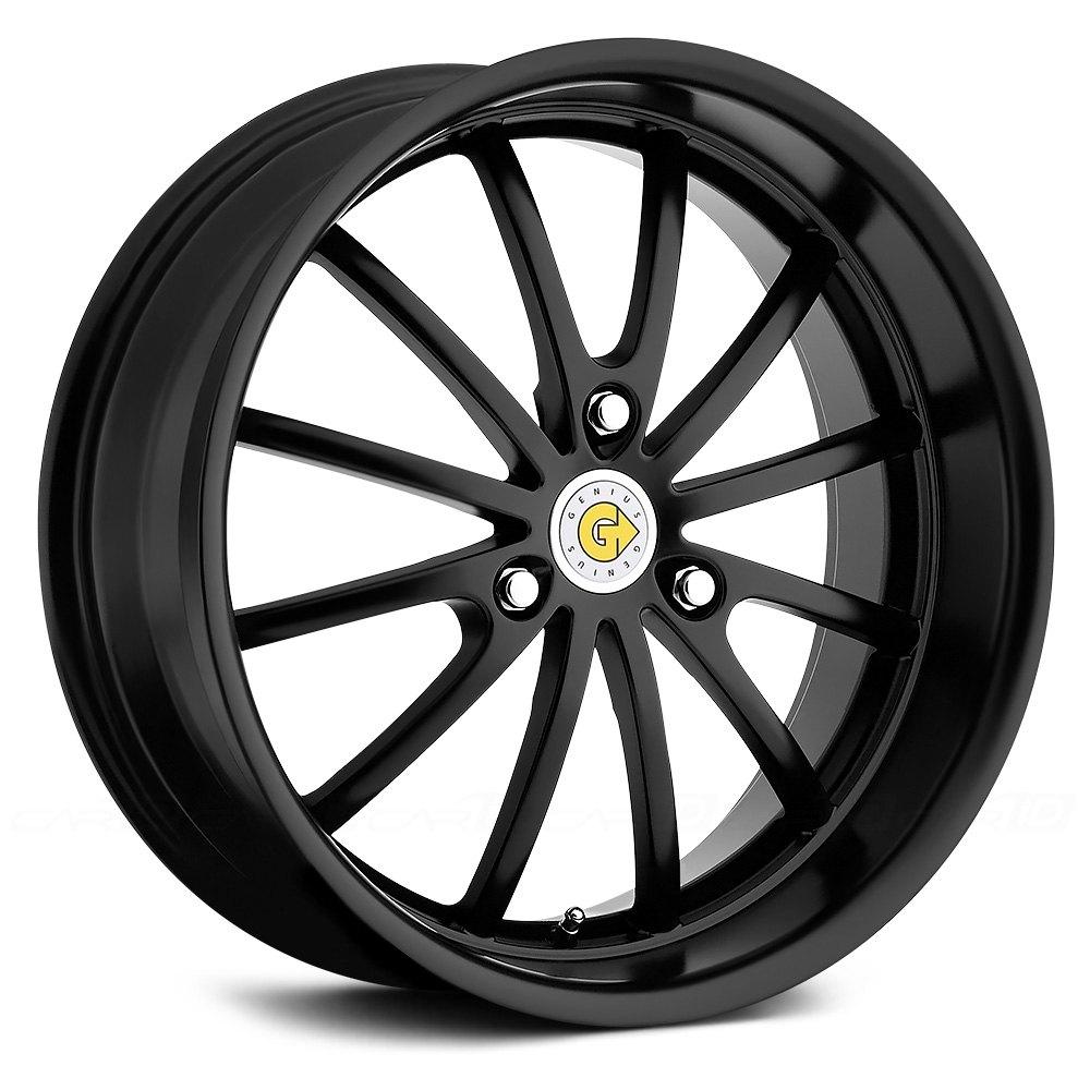 Genius 174 Darwin Wheels Matte Black Rims