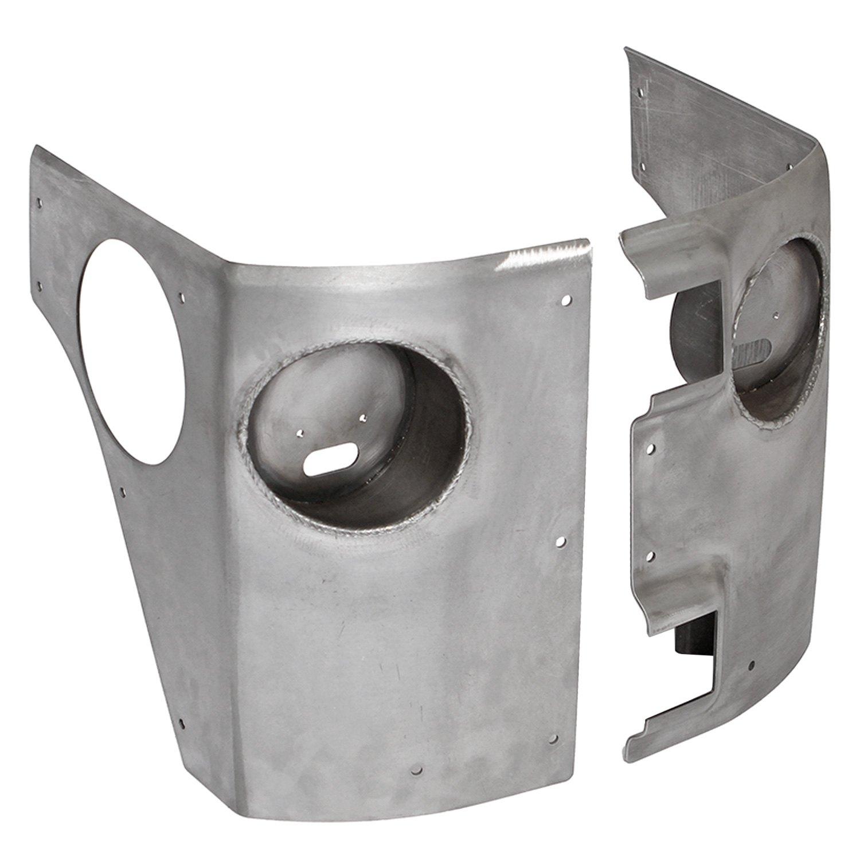 Steel Corner Protection : Genright jeep wrangler unpainted steel corner