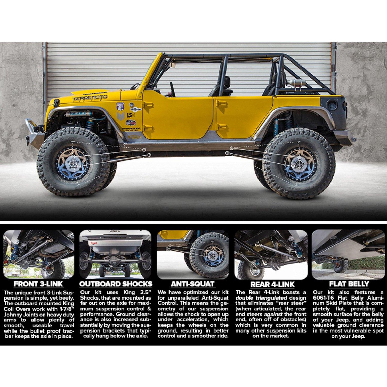 Jeep Wrangler 2014 Elite Coilover Suspension Kit