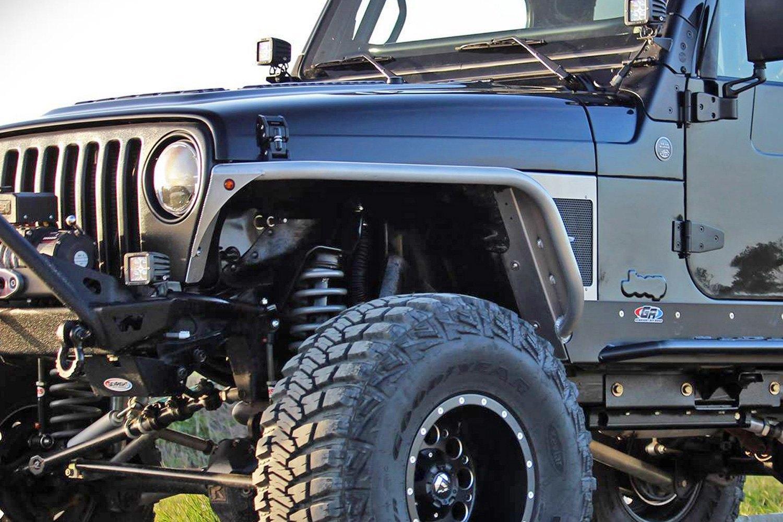 Flat Fender Jeep >> GenRight TFF-2710 - Aluminum Front Tube Fender Flares | eBay