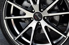 GIANELLE® - DAVALU Black with Machined Face on Honda Accord