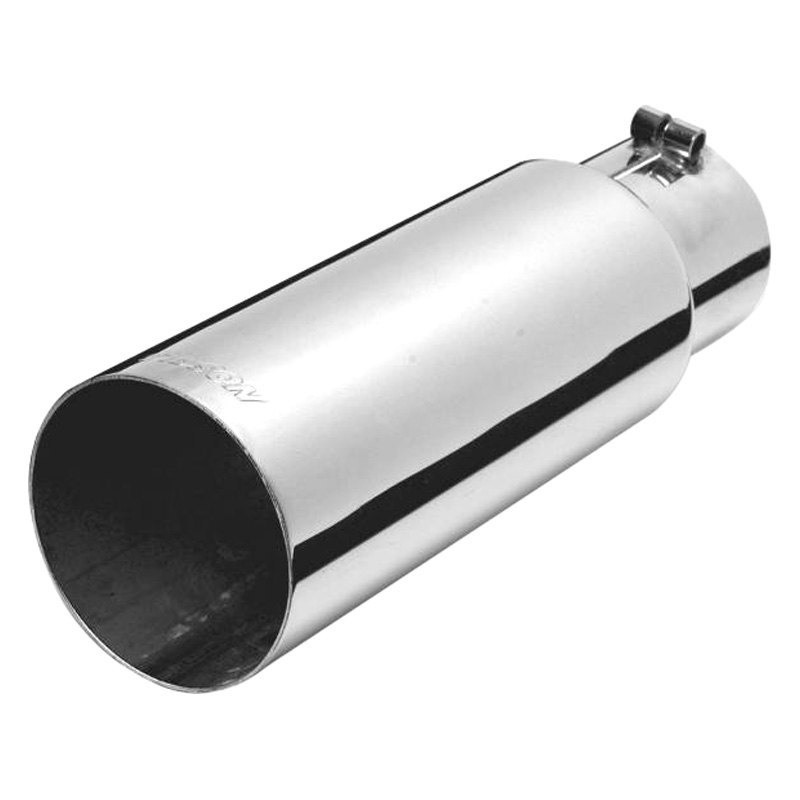 Automotive Gibson Exhaust 500380 Universal Stainless Steel Single Wall Angle Exhaust Tip