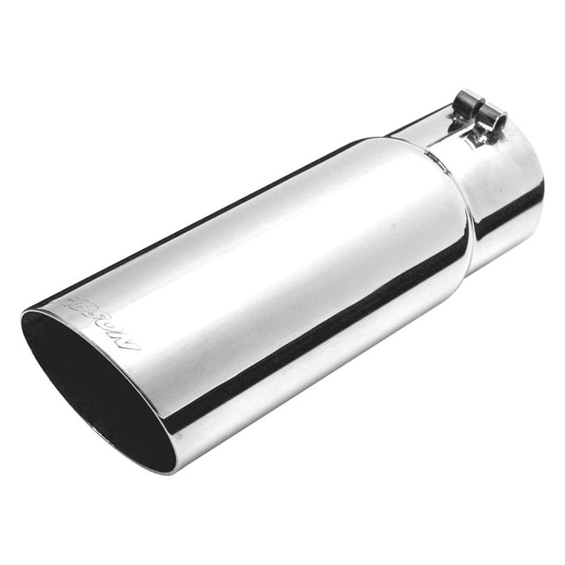 """GIBSON 500552-B Universal Black Round Exhaust Tip 2.5/"""" IN//4/"""" OUT"""