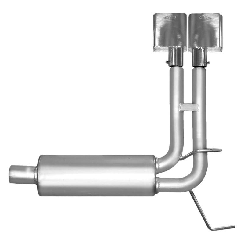 Gibson Cat Back Single Exhaust System Aluminized