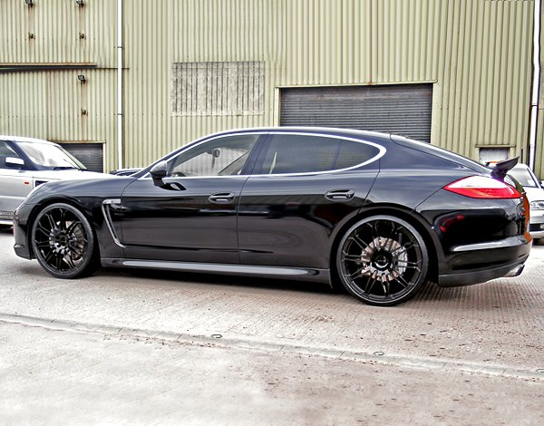 Black Panamera With Black Rims Black Porsche Panamera