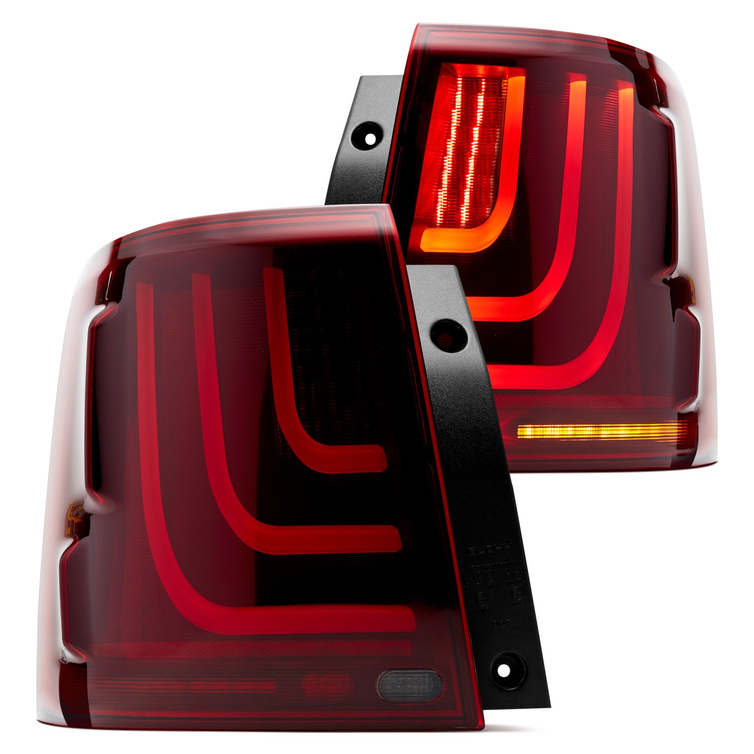 Glohh Gl 3 Dynamic Black Red Fiber Optic Led Tail Lights