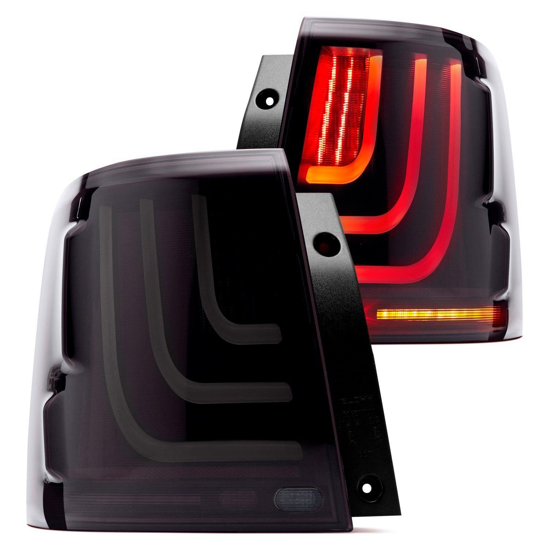 Glohh Gl 3x Dynamic Black Smoke Sequential Fiber Optic Led Tail Lights