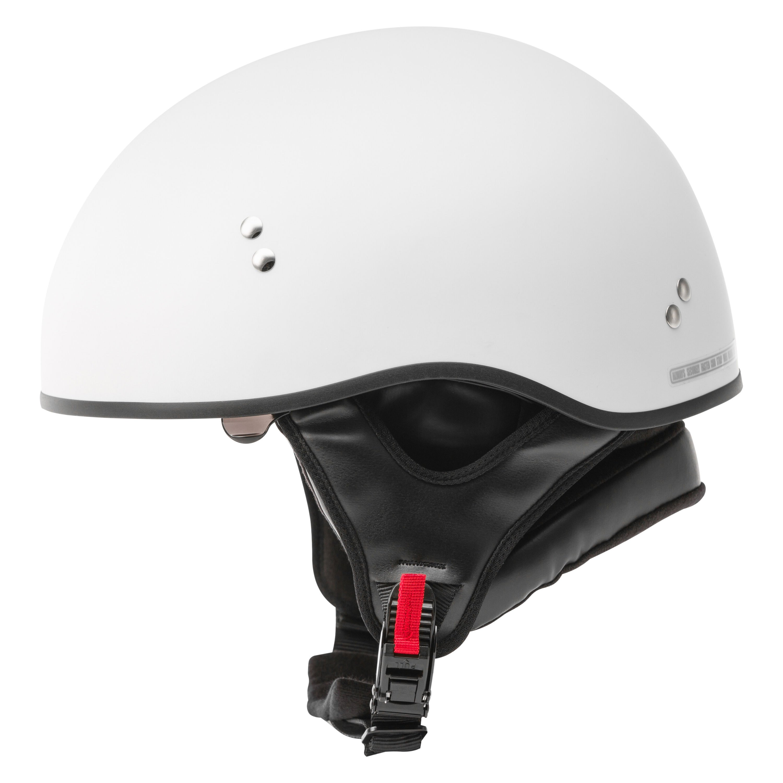 GMAX H1650204 HH-65 Naked Small Matte White Half Shell