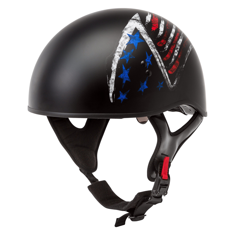 GMAX HH-65 Half Helmet Bravery Matte Black/Red/White/Blue
