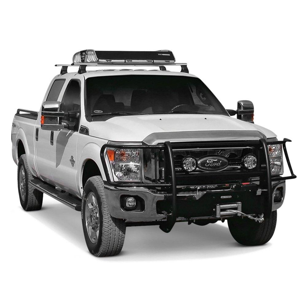 rhino black hd winch mount with brush guard installed