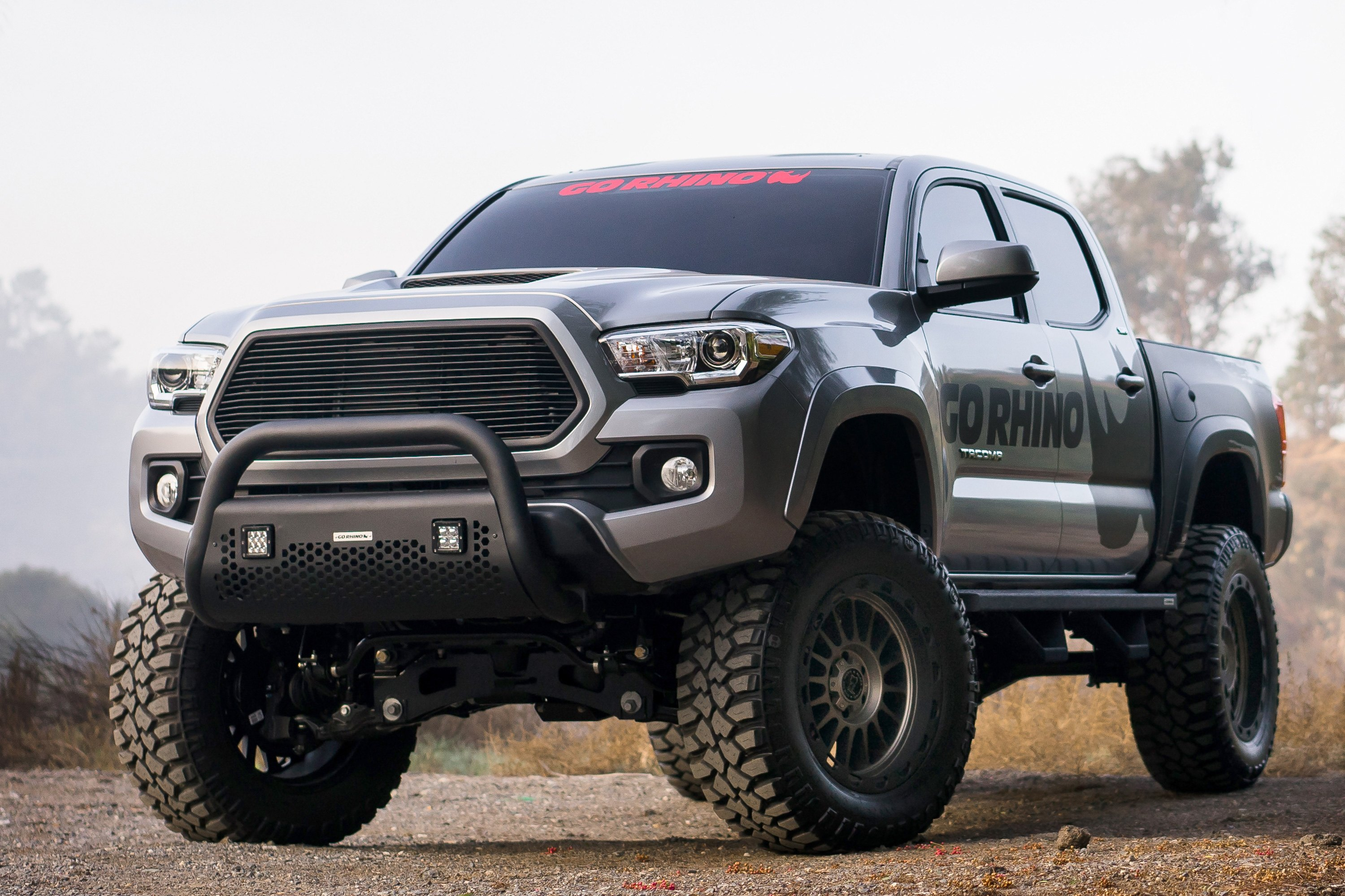 Complete Kit: Front Guard+Brackets, Rhino! Charger 2 55652T RC2 LR Textured Black Front Guard for Dodge Go Rhino