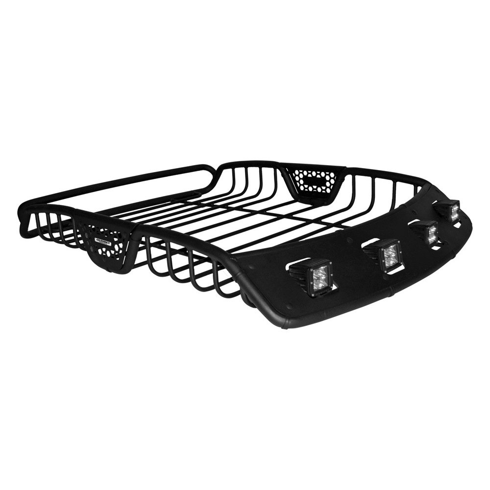 Go Rhino 174 5921147t 60 Quot Sr40 Series Roof Rack With 3 Quot Led